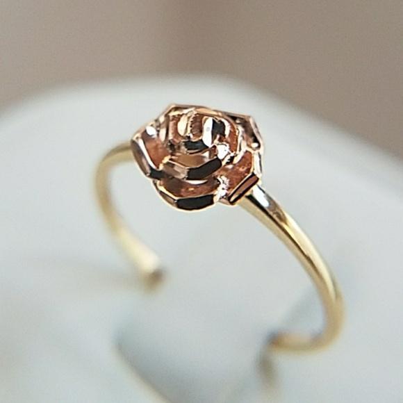Jewelry 14k yellow gold rose gold rose flower ring poshmark 14k yellow gold rose gold rose flower ring mightylinksfo